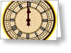Big Ben Midnight Clock Face Greeting Card