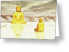 Big Buddha, Little Buddha Greeting Card