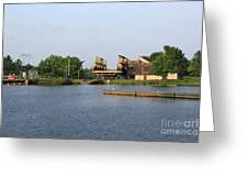 Big Chute Marine Railway, Trent Severn Waterway, Ontario Greeting Card