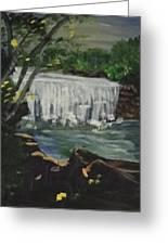 Big Waterfall Greeting Card