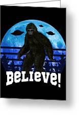 c62bbde5 Bigfoot Ufo Believe Funny Moon Crazy Alien Retro Digital Art by ...