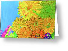 Biggie Flowers Sky Greeting Card