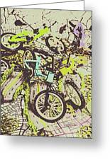 Bikes And City Routes Greeting Card