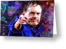 Bill Belichick Spotlight Portrait Greeting Card