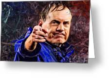 Bill Stephen Belichick Portrait Greeting Card