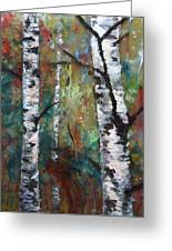 Birch Portrait I Greeting Card