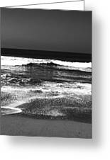 Black And White Beach 7- Art By Linda Woods Greeting Card