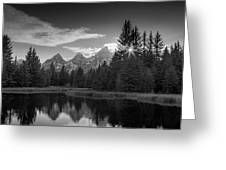 Black And White Sunstar Schwabachers Landing Greeting Card by Dan Sproul