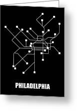 Black Philadelphia Subway Map Greeting Card