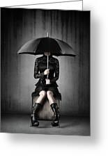 Black Rain Greeting Card