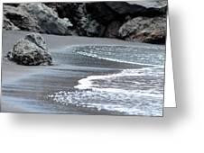 Black Sand Beach Greeting Card