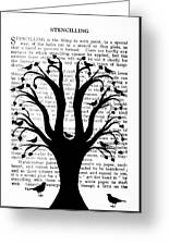 Blackbirds In A Tree - Central Greeting Card