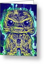 Creature From The Black Lagoon Pop Greeting Card