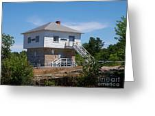 Blockhouse At Kingston Mills On The Rideau Canal Greeting Card
