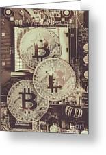 Blocks Of Bitcoin Greeting Card