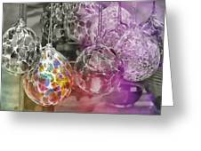 Blown Glass Ornaments Greeting Card by JAMART Photography