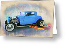 Blue 32 Ford Coupe Greeting Card