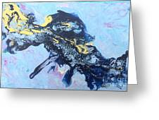 Blue Abstract #3 Greeting Card