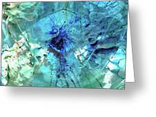 Blue Abstract Art - Heaven's Gate - Sharon Cummings Greeting Card