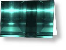 Blue Aluminum Surface. Metallic Fashion Geometric  Background Greeting Card