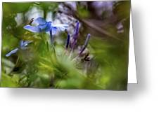 Blue And Green 2 Greeting Card