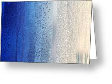 Blue And Silver Greeting Card