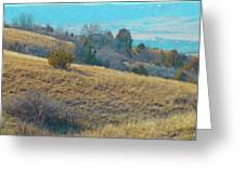 Blue Butte Prairie Reverie Greeting Card
