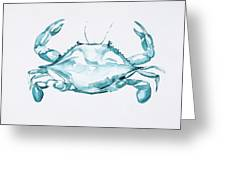 Blue Crab Turcoise Greeting Card