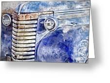 Blue Gmc Truck Greeting Card by Brad Allen Fine Art