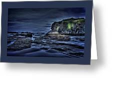 Blue Hour At Bandon Beach Greeting Card