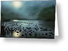 Blue Lagoon Greeting Card by Jon Exley