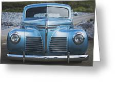 Blue Plymouth Greeting Card by Elliott Coleman