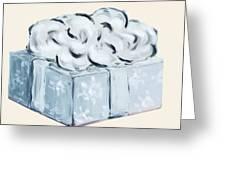 Blue Present Greeting Card