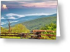 Blue Ridge Parkway View Greeting Card by Ken Barrett