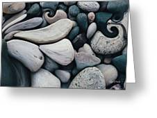 Blue Rock Garden Greeting Card