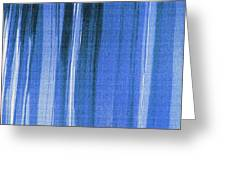 Blue Shower Curtain Greeting Card