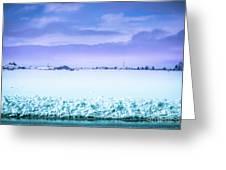 Blue Sky, White Field Greeting Card