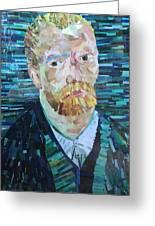 Blue Van Gogh Greeting Card