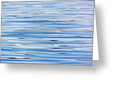 Blue Water Abstract 8621 Greeting Card