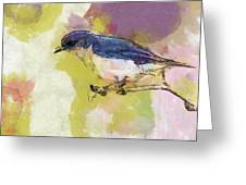 Bluebird Watercolor Version 2 Greeting Card by Dan Sproul