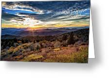 Blueridge Mountain Sunburst Greeting Card