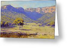 Bluffs Of The Capertee Valley Greeting Card