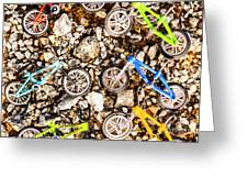 Bmx Pebble Race Greeting Card