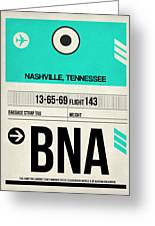 Bna Nashville Luggage Tag II Greeting Card