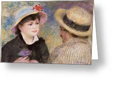 Boating Couple  Said To Be Aline Charigot And Renoir      Greeting Card