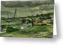Boats At Leigh On Sea  Greeting Card
