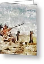 Bofors, Desert War, Wwii Greeting Card