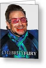 Bono U2 Greeting Card
