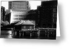 Boston Fort Point Channel Contrast Greeting Card