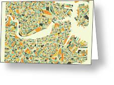 Boston Map 1 Greeting Card